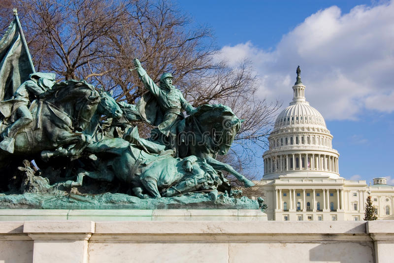 Download Cavalry Group Monument In Front Of US Capitol Royalty Free Stock Images - Image: 12409279