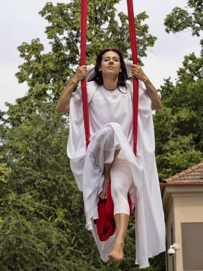 JIHLAVA CZECH REPUBLIC JUNE 22Th. 2019, The Cavalry Parade, Flying Angels, June 22nd. 20 Th, Jihlava, Czech Republic. The Cavalry Parade, Flying Angels, June royalty free stock image