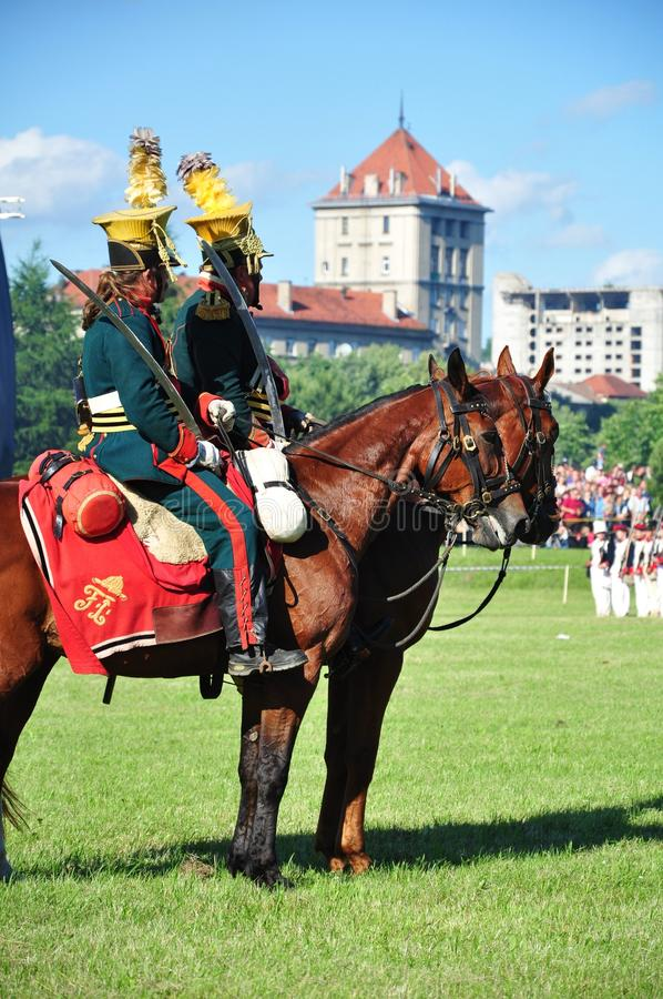 Cavalry soldiers stock photography