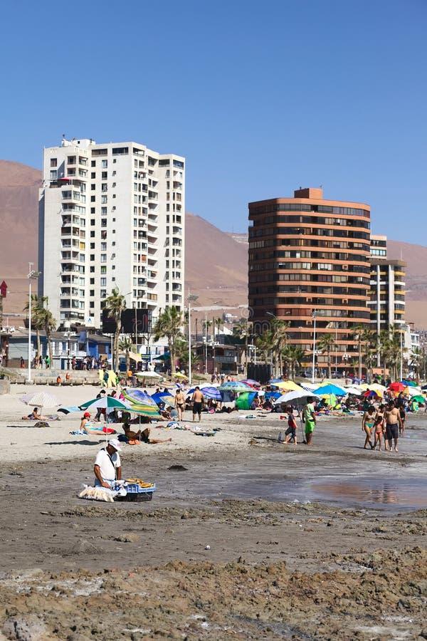 Cavanchastrand in Iquique, Chili royalty-vrije stock afbeelding