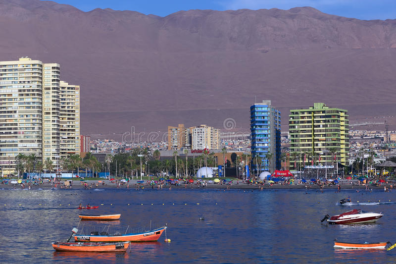 Cavanchastrand in Iquique, Chili royalty-vrije stock foto's