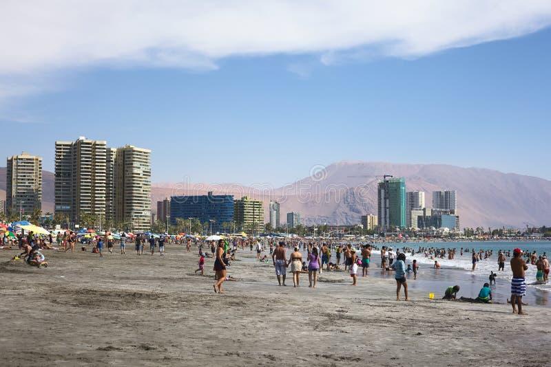 Cavanchastrand in Iquique, Chili royalty-vrije stock afbeeldingen