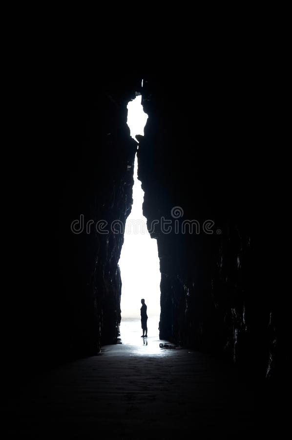Download In the cave stock photo. Image of silhouette, zealand - 13209990