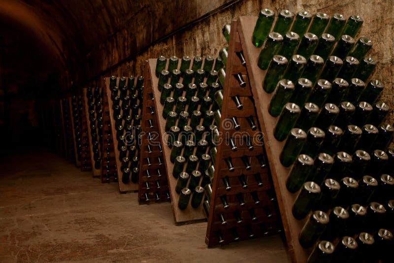 Cave avec du vin images libres de droits