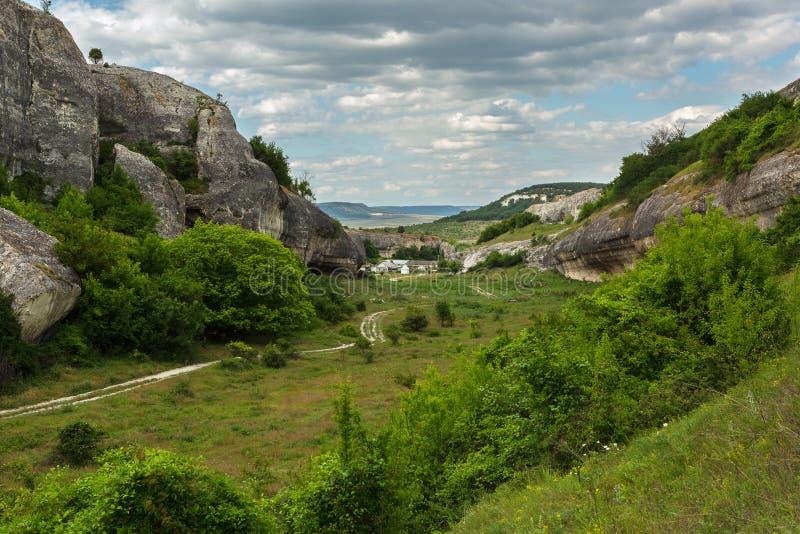 Cave City in Cherkez-Kermen Valley, Crimea royalty free stock photos