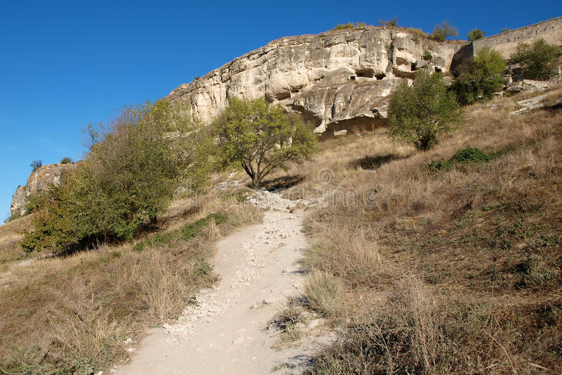 Cave city Chufut-Kale stock photo