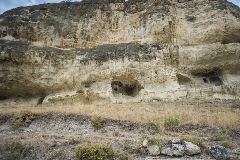 Cave city Chufut-Kale, Bakhchisarai. Sights of Crimea royalty free stock image