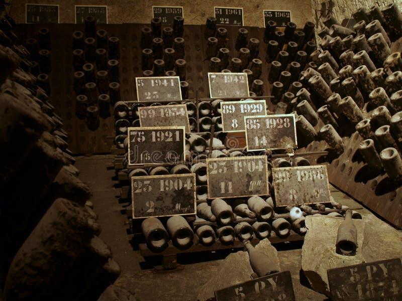 Cave de Champagne images stock