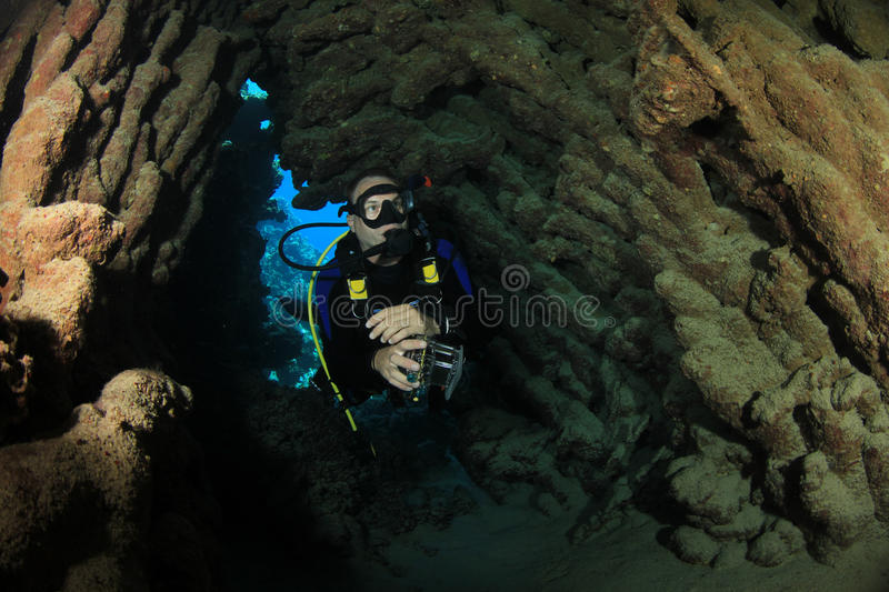 Cave Diver stock images