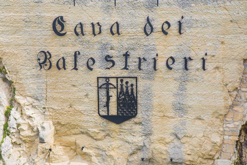 Cave du Balestrieri Le Saint-Marin Le Republic Of San Marino photographie stock libre de droits