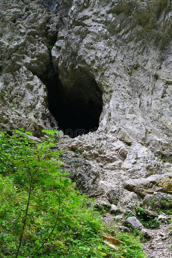 Download Cave entrance stock image. Image of darkness, hole, poland - 6299619