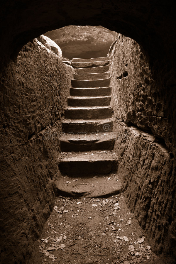 Download Cave exit 3 stock image. Image of darkness, nice, hollow - 2574209
