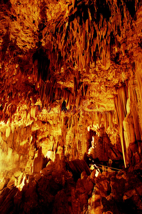 Cave Gong Pacitan Indonesia. Stalactites and stalagmites in the cave Gong, Pacitan, East Java, Indonesia stock images