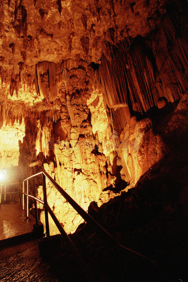 Cave Gong Pacitan Indonesia. Stalactites and stalagmites in the cave Gong, Pacitan, East Java, Indonesia stock photo