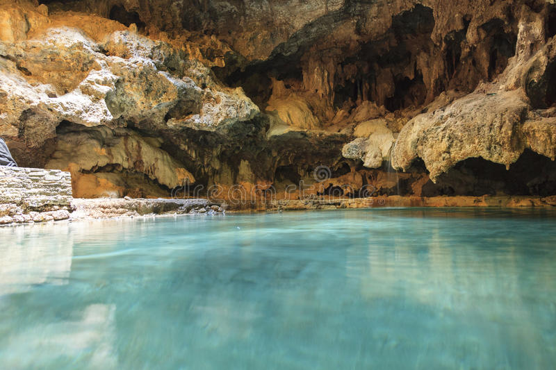 Cave hot spring royalty free stock images