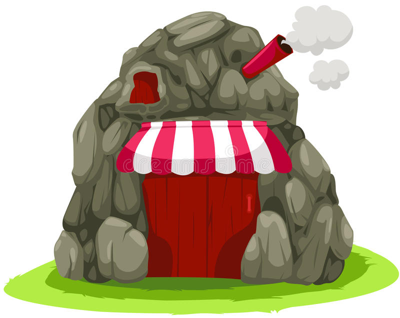 Cave house royalty free illustration