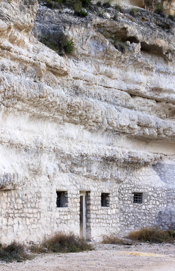 Cave House In Jorquera, Castilla-la-Mancha, Spain Royalty Free Stock Images