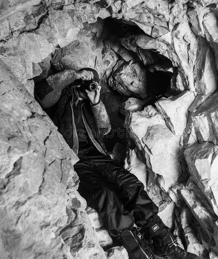 Cave Hunt royalty free stock photography