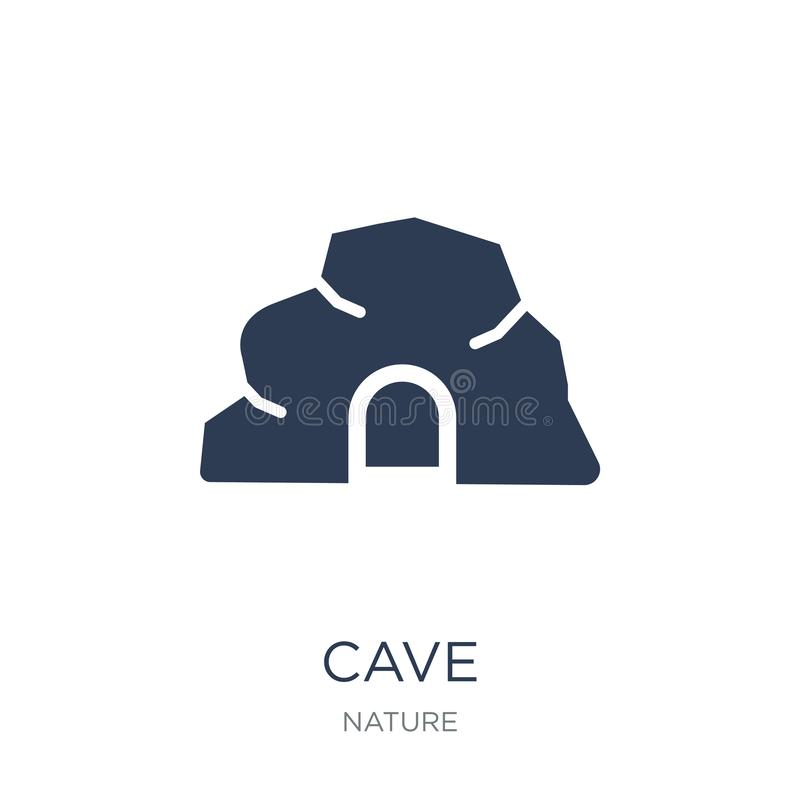 Cave icon. Trendy flat vector cave icon on white background from. Nature collection, vector illustration can be use for web and mobile, eps10 vector illustration