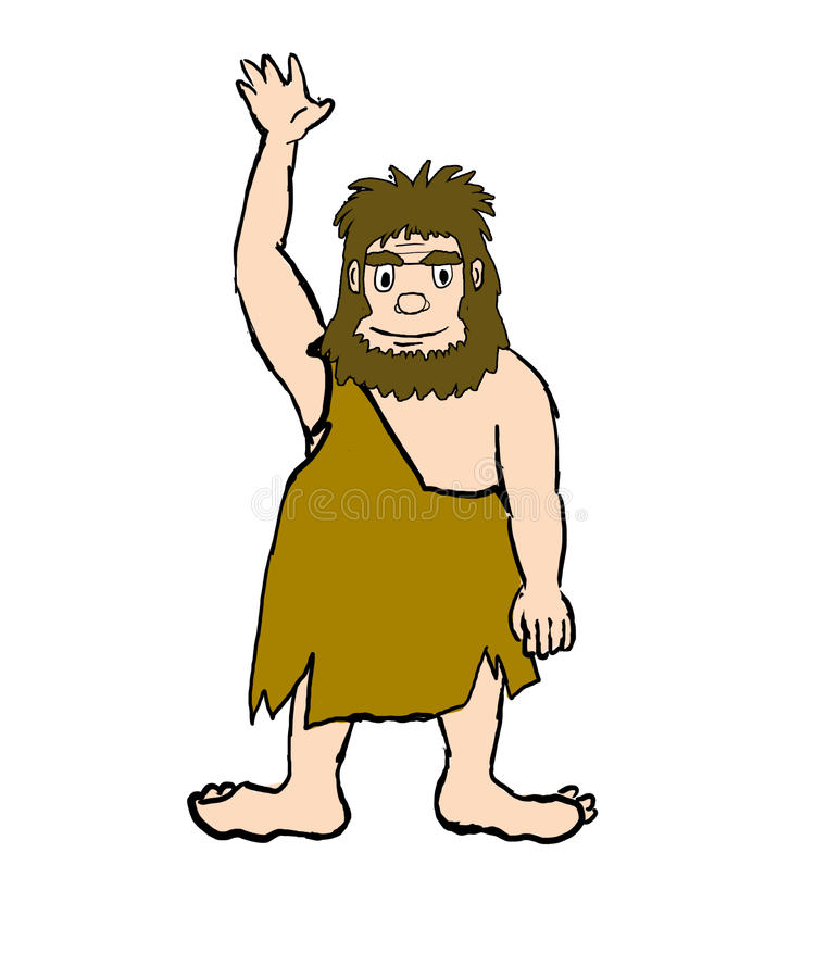 Download Cave man stock illustration. Image of magnon, club, facial - 22671674