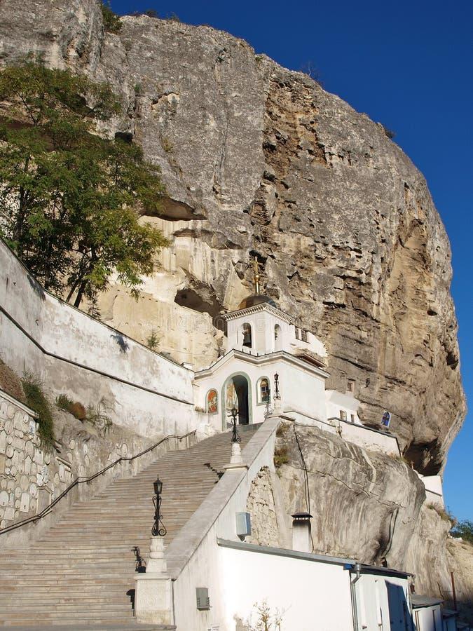 Cave monastery stock image