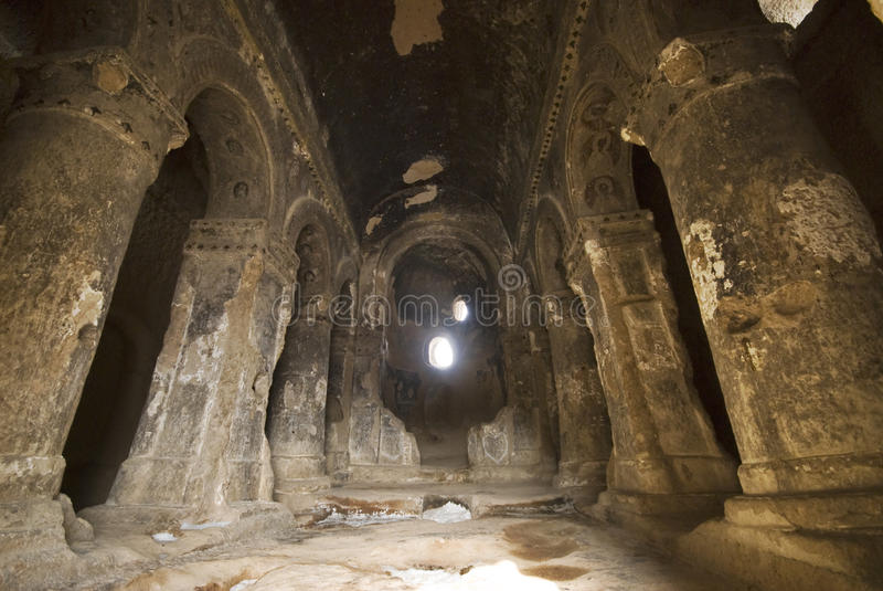 Cave Monastery Selime in Turkey. royalty free stock image