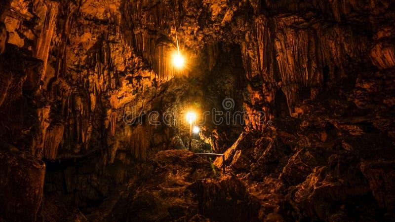 Cave near Semuc Champey in Guatemala. Exploring royalty free stock photo