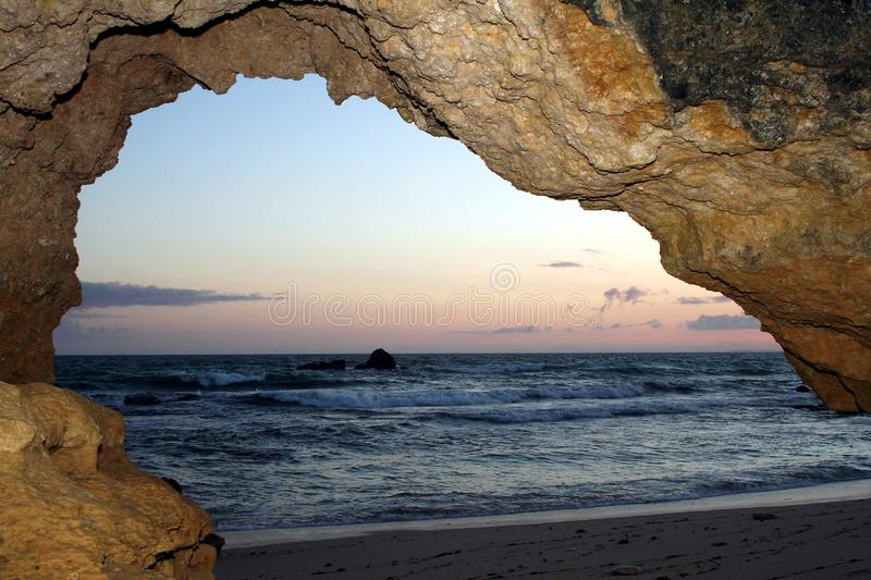 Download Cave overlooking the sea stock image. Image of formation - 2670481