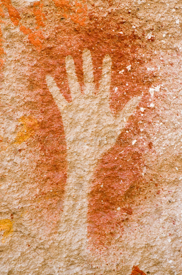 Cave paintings in Argentina royalty free stock photography