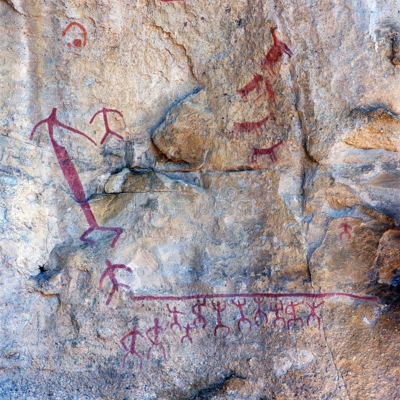 Cave paintings in the Cueva de las Manos, El Calafate stock image