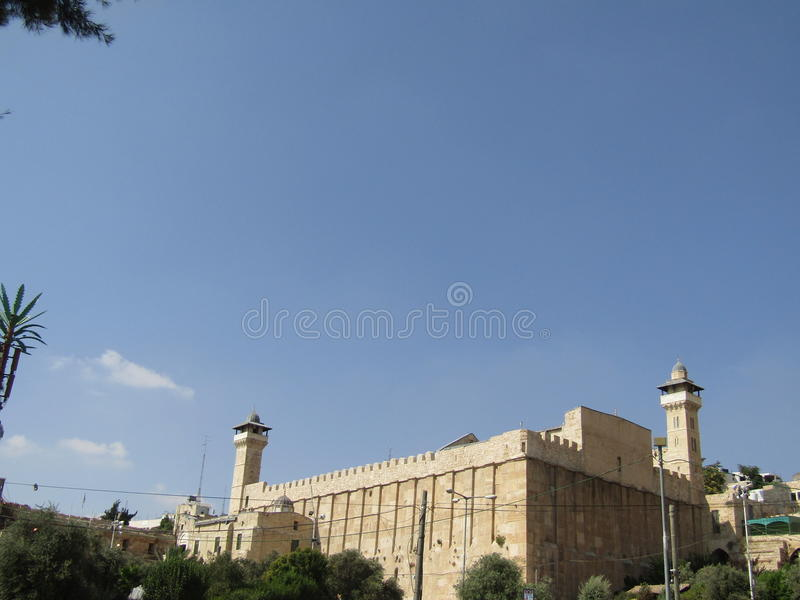 Cave of the Patriarchs in Hebron, Israel stock photography