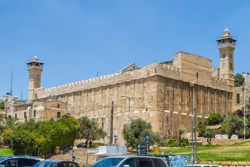 Cave of the Patriarchs, Cave of Machpelah in Hebron, Israel stock image