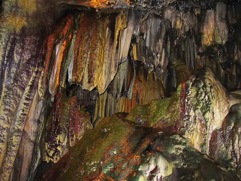 Cave in Sant Miquel del Fai royalty free stock photos
