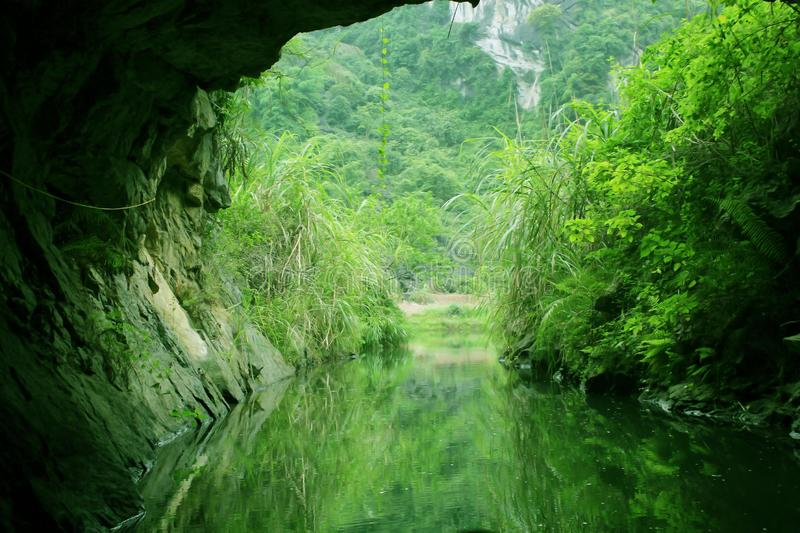 Cave in the Tam Coc River stock image