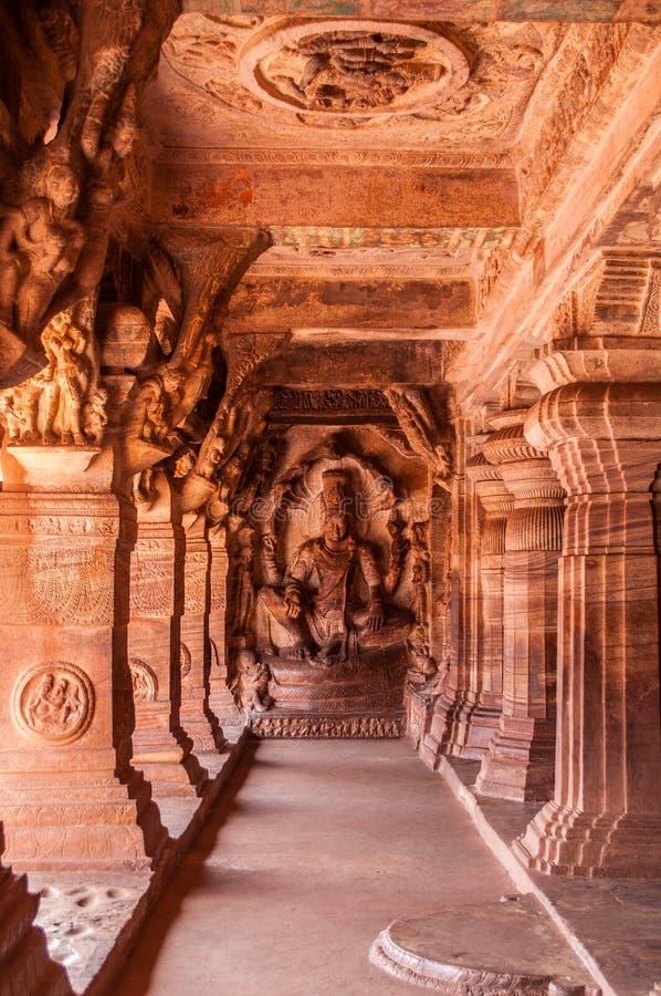Cave temple at Badami, KA stock images