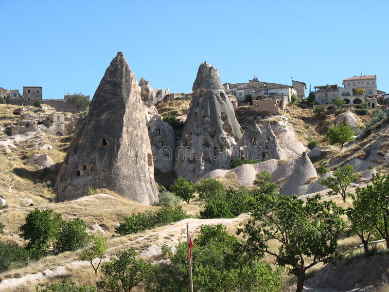 Cave town of Goreme in Turkey royalty free stock image