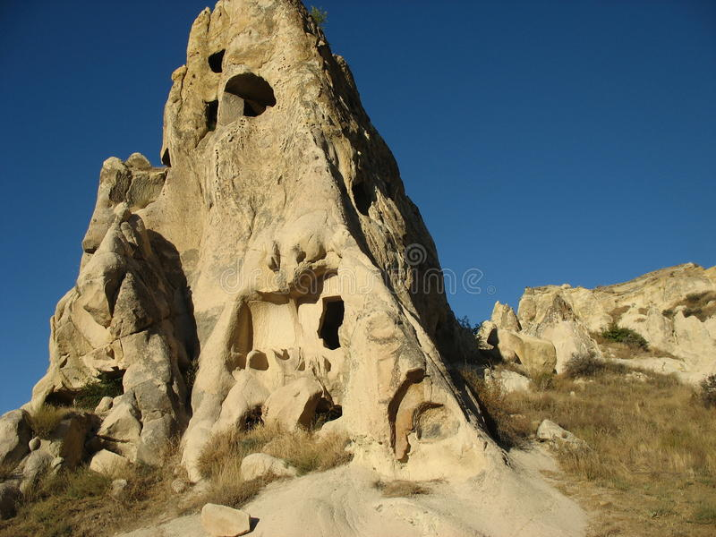 Cave town of Goreme in Turkey royalty free stock photography