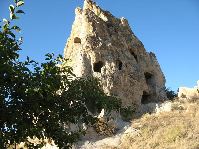 Cave town of Goreme in Turkey royalty free stock photo