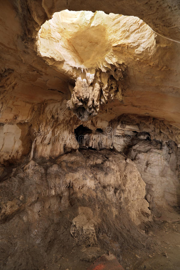 Cave. Vorontsovskaya cave system - the system of caves, located on the Vorontsov ridge in the Khosta and Adler districts of Sochi, Krasnodar Krai, Russia royalty free stock photography