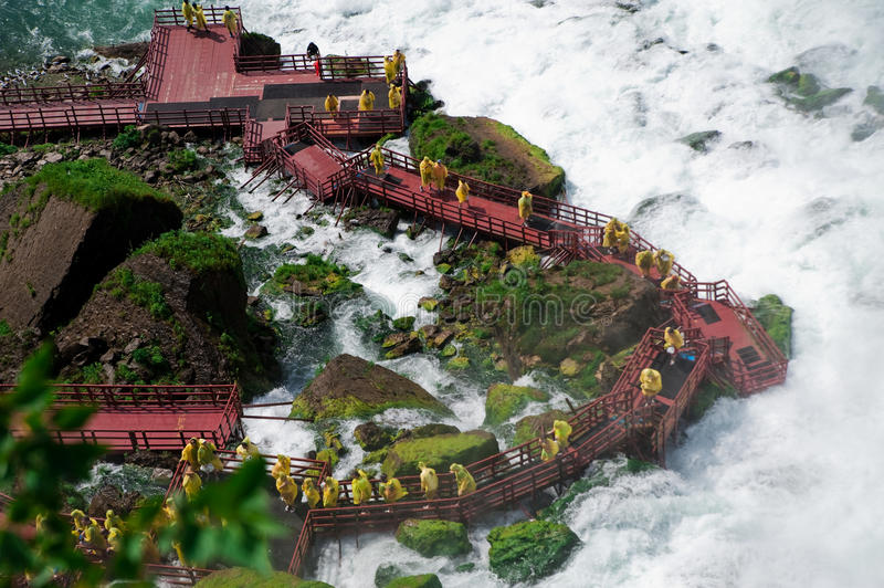 Cave of the Winds. At Niagara Falls State Park in New York, USA royalty free stock photos