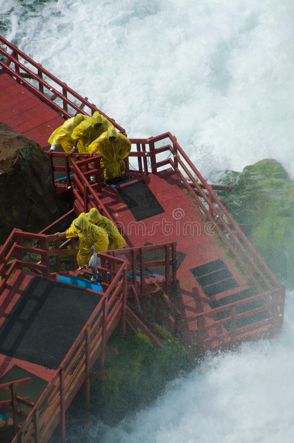 Cave of the Winds. At Niagara Falls State Park in New York, USA stock image