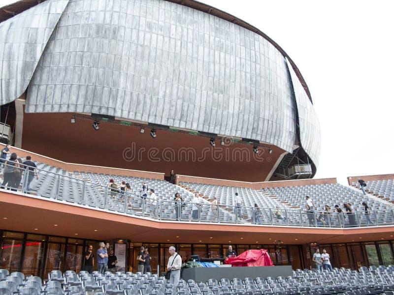 Cavea-Auditorium, Rom stockfotos