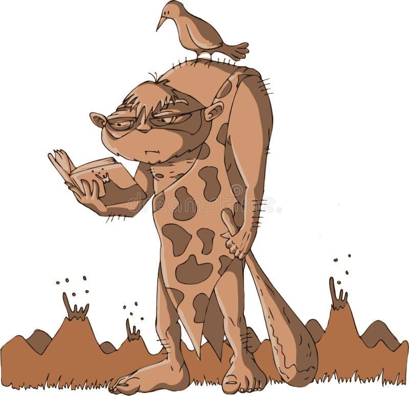 caveman ανάγνωση στοκ φωτογραφίες με δικαίωμα ελεύθερης χρήσης