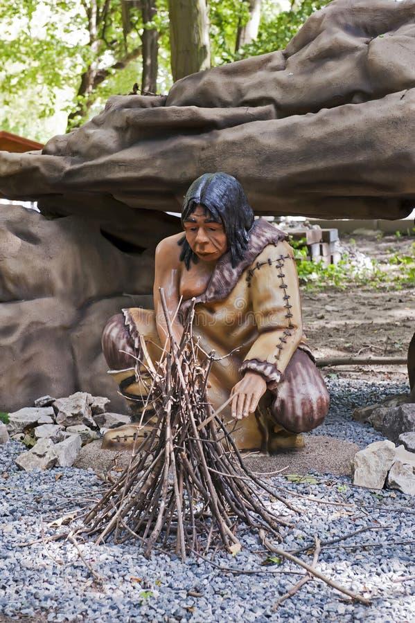 caveman ομοίωμα στοκ φωτογραφίες