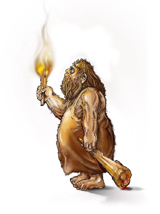 caveman illustrazione vettoriale