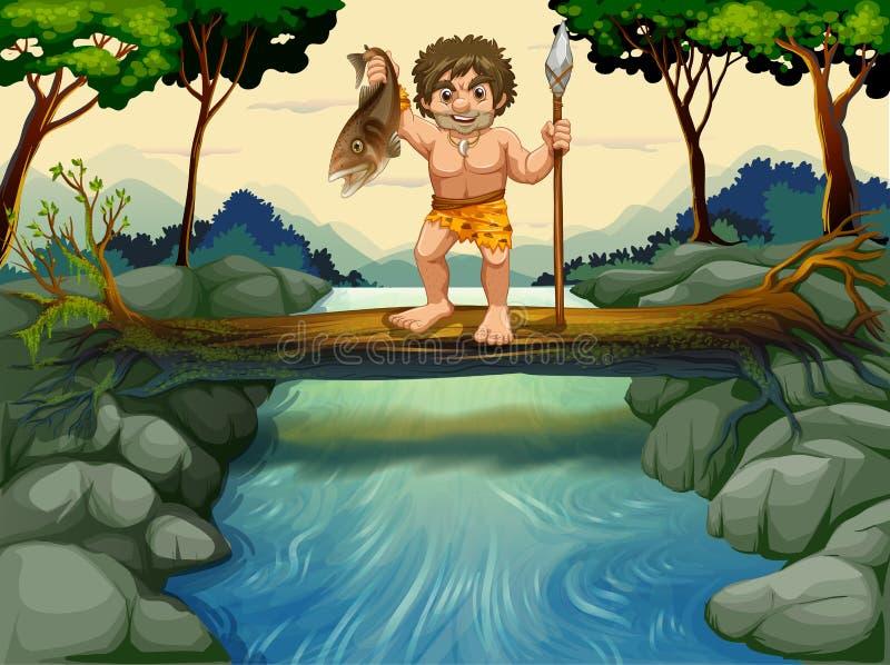caveman illustration de vecteur