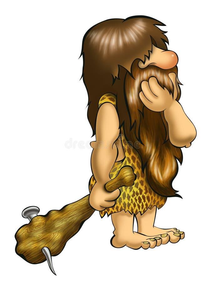 caveman vektor illustrationer