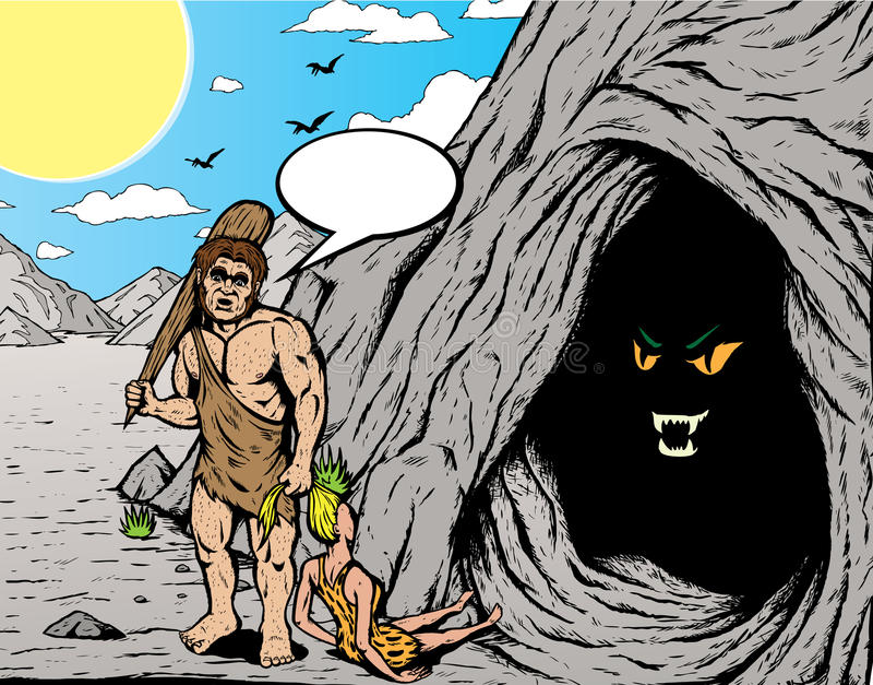 caveman ilustracja wektor