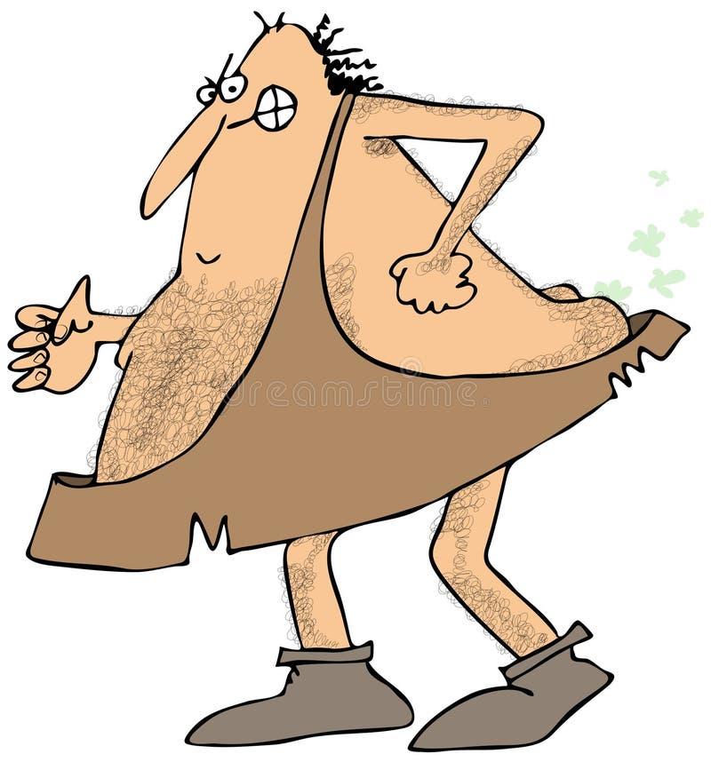 Caveman bębnica ilustracji