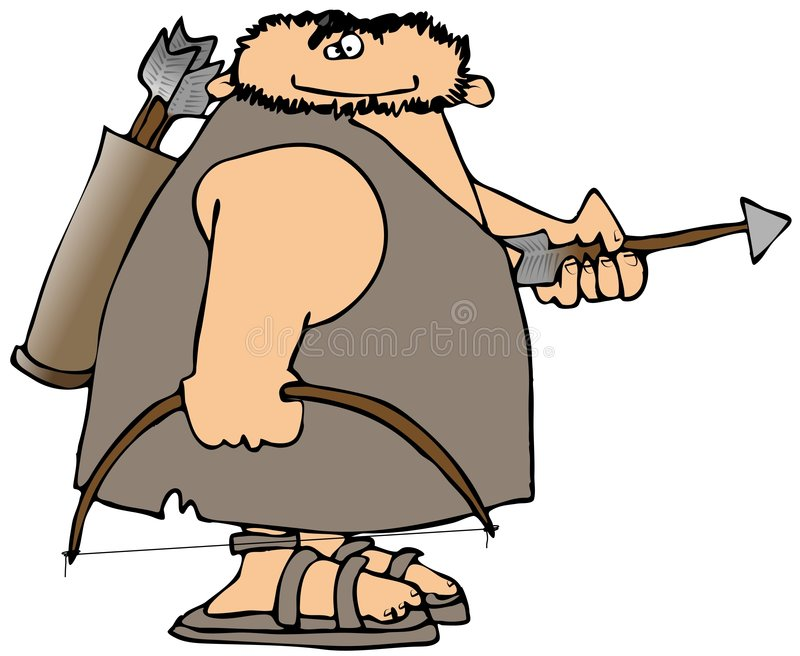 Download Caveman With Bow And Arrow stock illustration. Image of male - 8096140